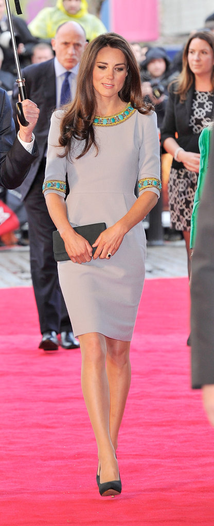 We love the bright detailing on this little shift at the UK premiere of African Cats in April 2012.