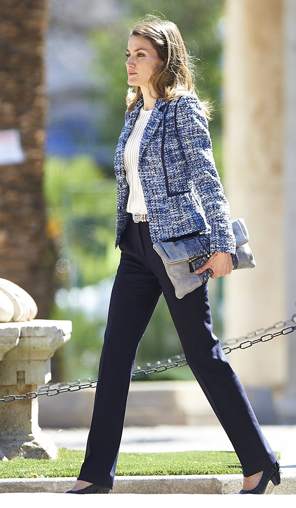 With an oversized clutch under her arm and a tweedy-cool jacket, the princess looked perfectly polished and effortlessly on-trend.