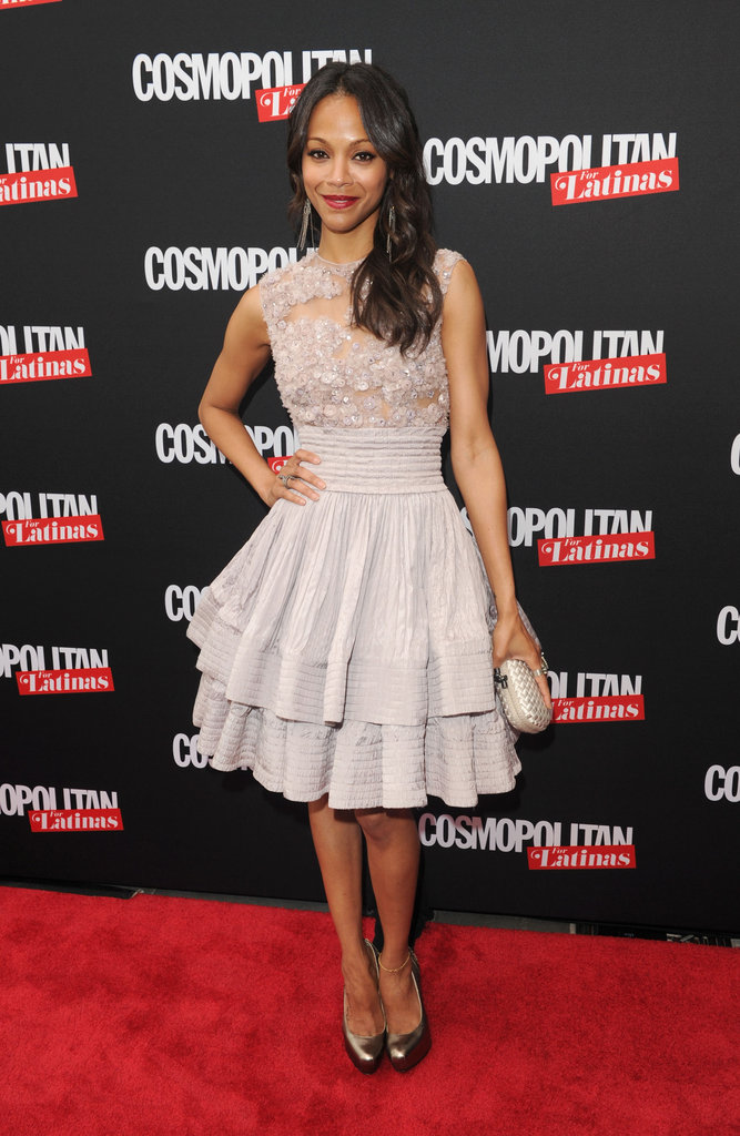 Her sweet Elie Saab Couture fit-and-flare dress was a great red carpet choice for her Cosmopolitan For Latinas premiere issue party in May 2012.