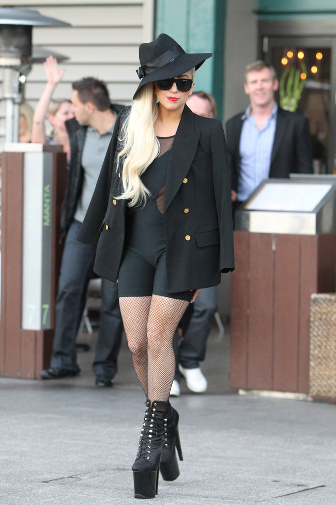 Lady Gaga Goes Back to Blonde For Lunch in Sydney