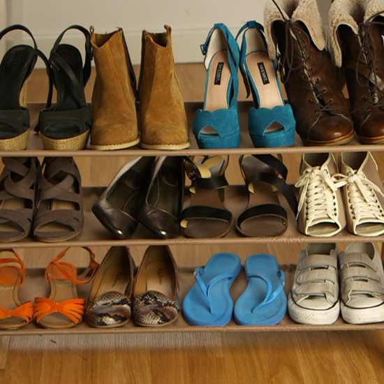 how to organize your shoes popsugar fashion. Black Bedroom Furniture Sets. Home Design Ideas