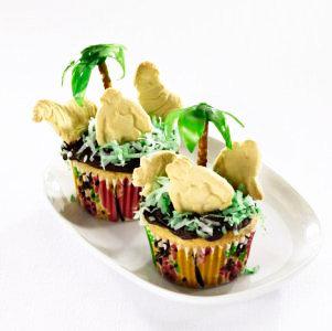 Make Safari Cupcakes