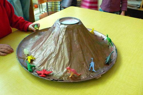 Make a Baking Soda and Vinegar Volcano
