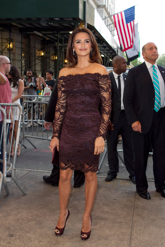 Penelope Cruz attended a screening of To Rome With Love at the Paris Theatre in NYC.
