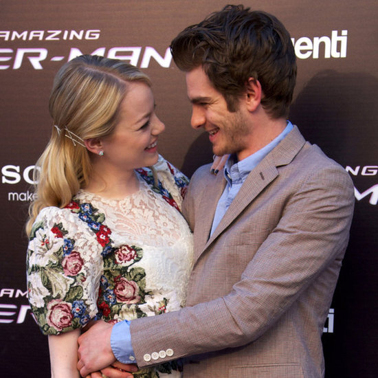 Andrew Garfield and Emma Stone Hug Madrid Pictures