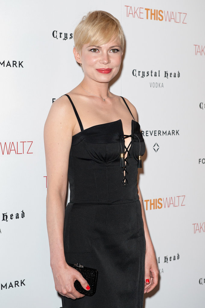 Michelle Williams posed at her premiere of Take This Waltz.