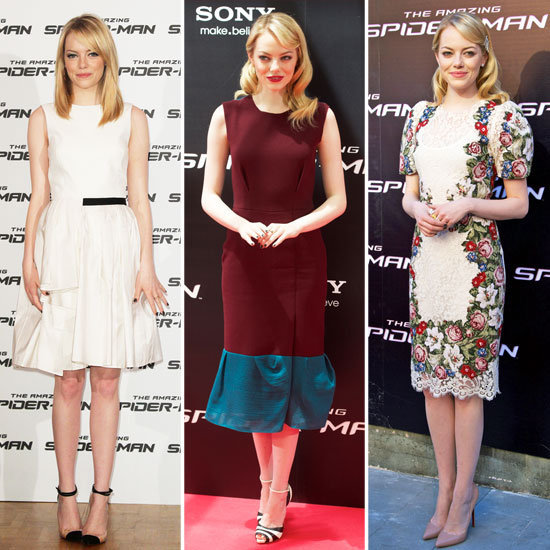 Emma Stone is taking The Amazing Spider-Man promo tour by storm, wearing everything from floral Dolce & Gabbana to sexy Gucci gowns. See every dress and every cool heel here.