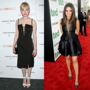 Mila Kunis and Michelle Williams Wear LBDs