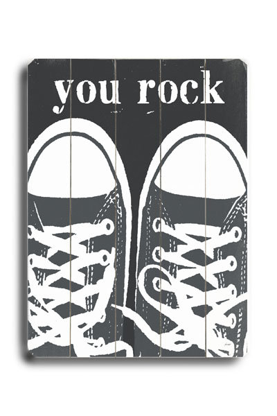 Lisa Weedn You Rock Wooden Sign ($64)