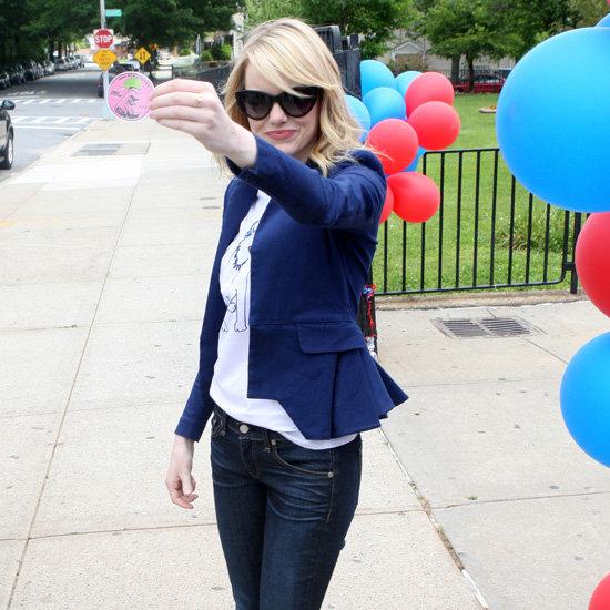 Emma Stone Peplum Jacket