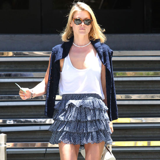 Ali Larter Wearing Ruffled Skirt