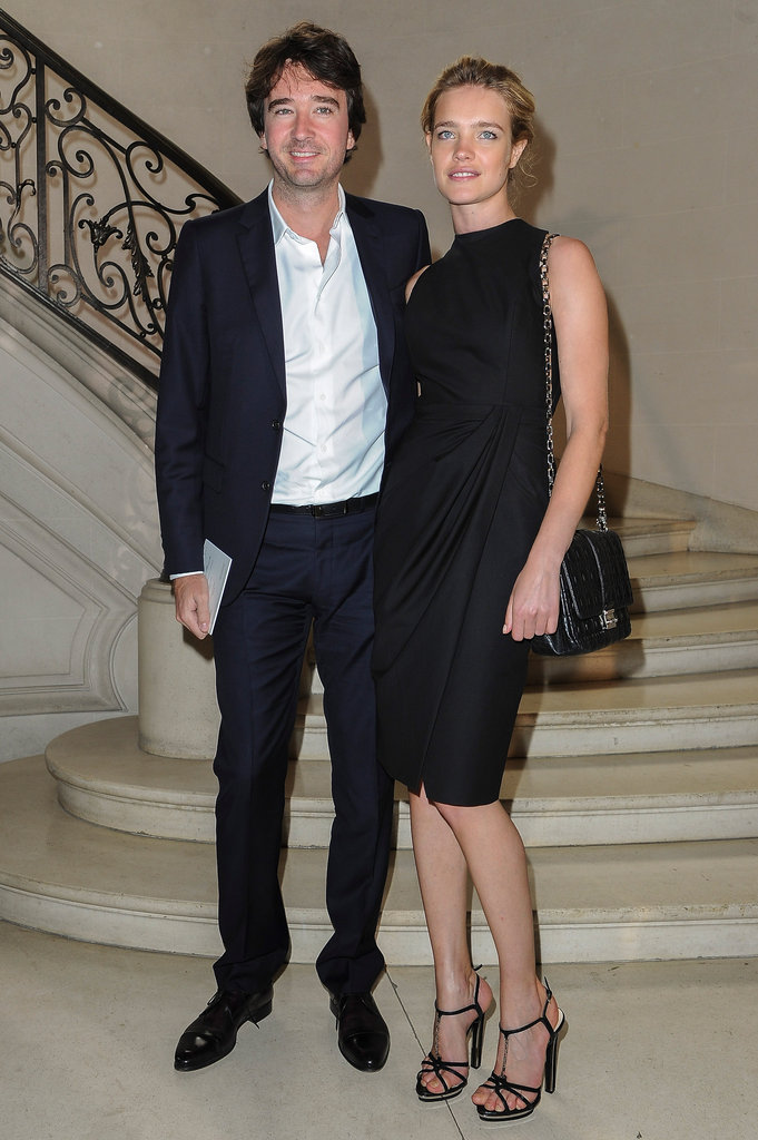 Natalia Vodianova was a natural beauty in an understated LBD at Christian Dior.