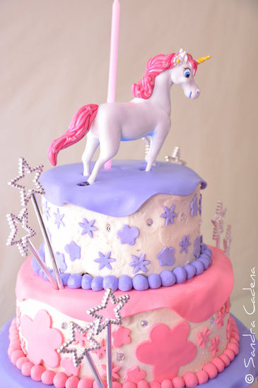 Unicorn and Stars Cake