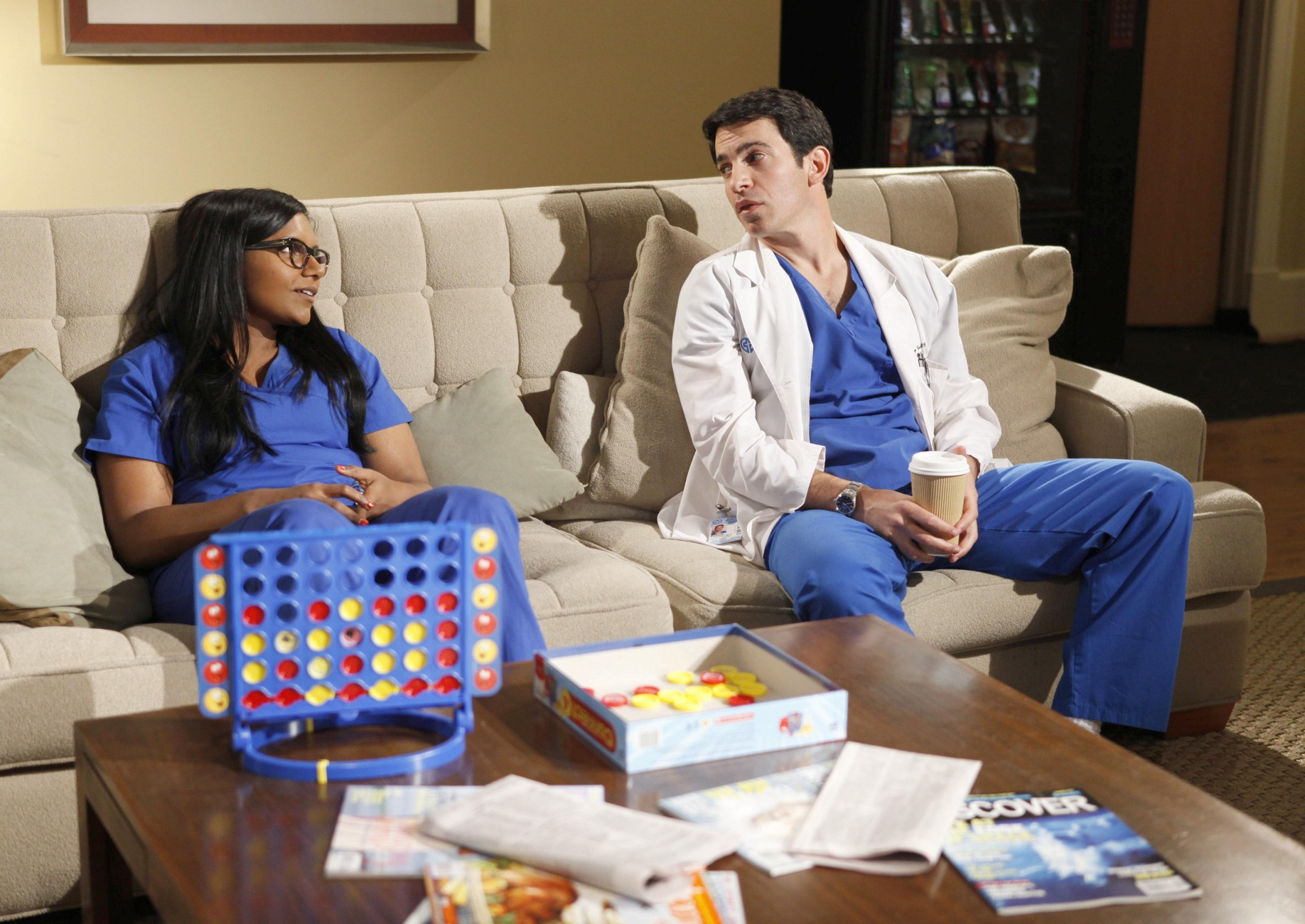 Mindy Kaling and Chris Messina on The Mindy Project.</p> <p>Photo courtesy of Fox
