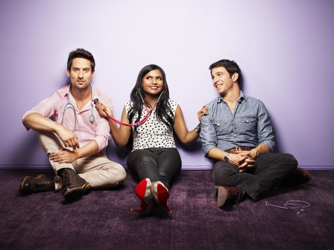 Ed Weeks, Mindy Kaling, and Chris Messina on The Mindy Project.</p> <p>Photo courtesy of Fox<br />