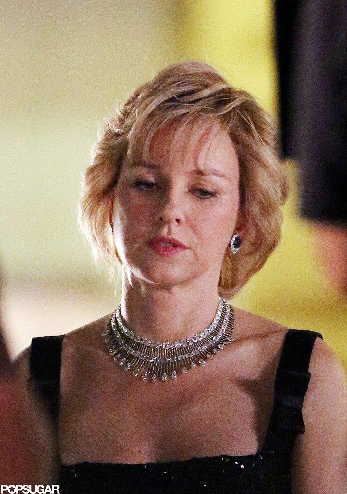 Naomi Watts continued work as Princess Diana.