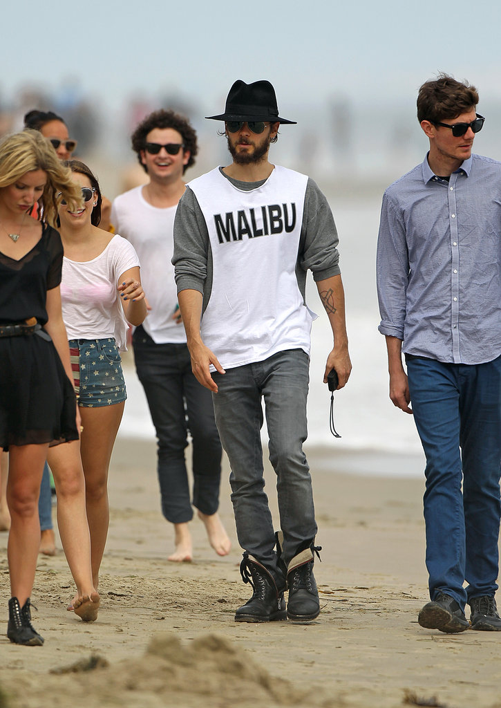 Jared Leto hit the beach in Malibu with friends to celebrate the Fourth.