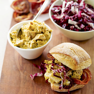 Fourth of July: Giada De Laurentiis Recipe Idea.....Curried Chicken Sandwich with Radicchio and Panchetta