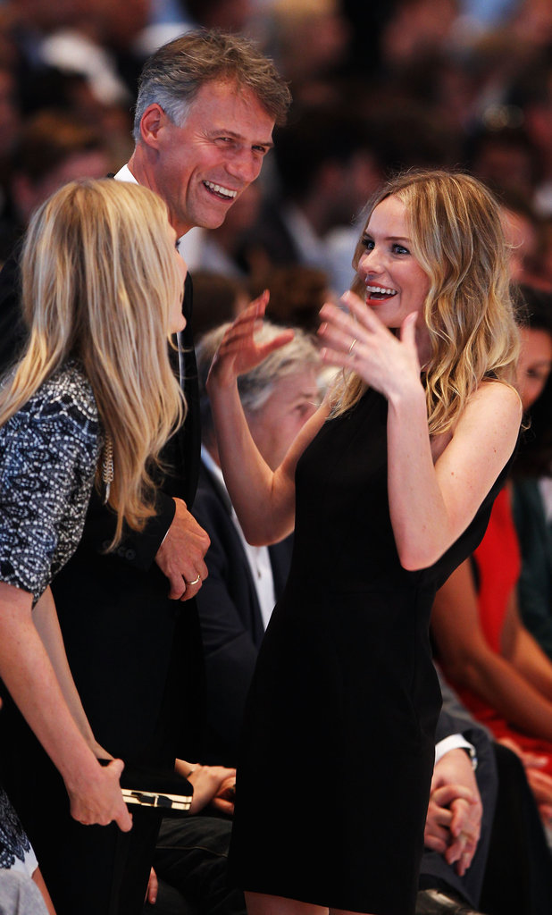 Kate Bosworth attended the Hugo by Hugo Boss fashion show in Berlin with Poppy Delevingne and Claus-Dietrich Lahrs.
