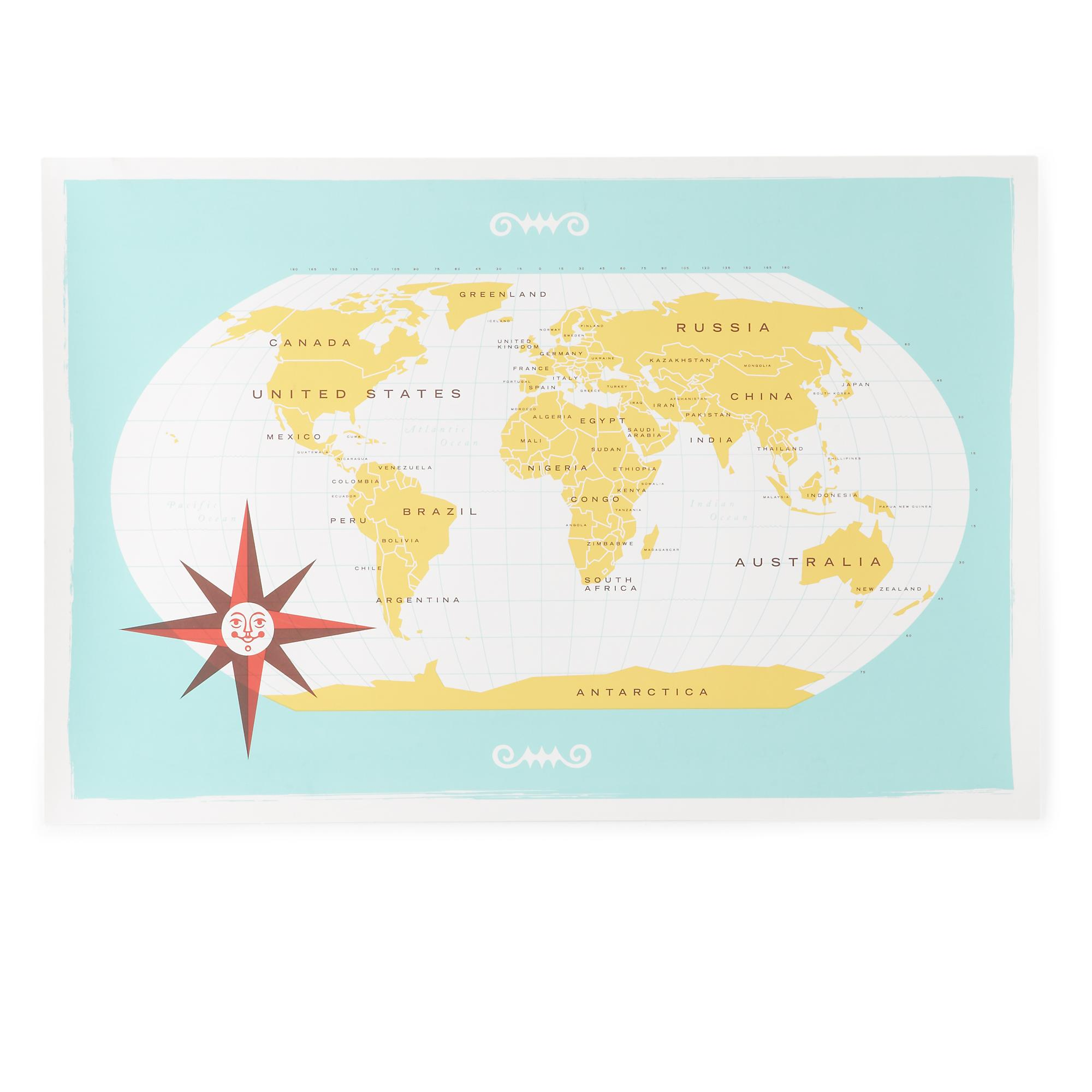 What a Wonderful World Map ($99)