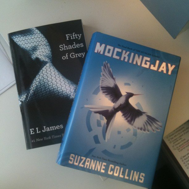 "Fifty Shades of Grey and Mockingjay were POPSUGAR Video's ""reference books"" for work research. She wrote, ""Someone's gotta do it!"""