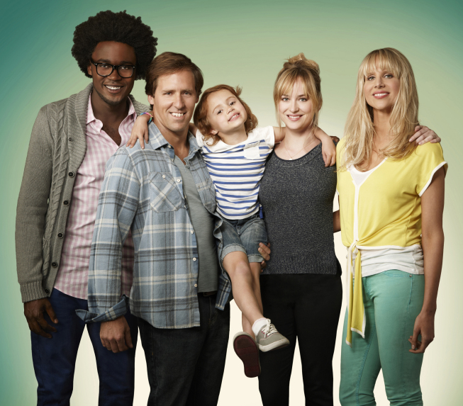 Echo Kellum, Nat Faxon, Maggie Jones, Dakota Johnson, and Lucy Punch on Ben and Kate.