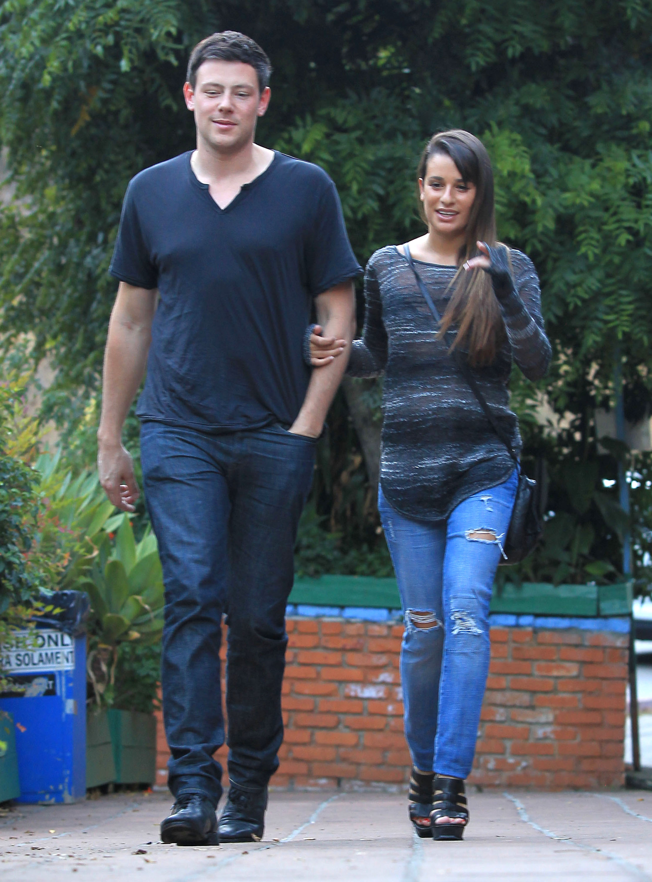 Glee's Cory Monteith and Lea Michele hung out.