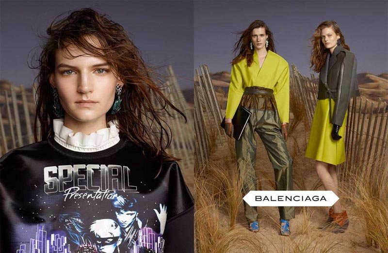 We're kind of obsessed with Balenciaga's campy-meets-cool sweatshirts for Fall.