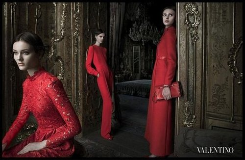 Seductive Valentino reds emphasize the brand's glamour tenfold.