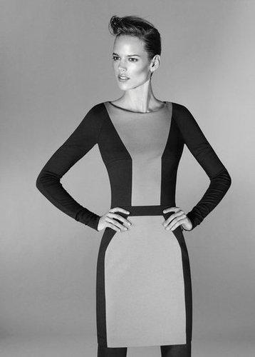 Model Freja Beja Erichsen strikes a pose in the Hugo by Hugo Boss's old school black-and-white ads for Fall.