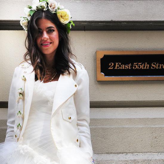 See The Man Repeller Leandra Medine's Marchesa Wedding Dress Up Close!