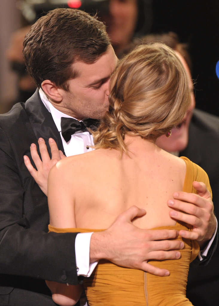 Joshua Jackson planted a kiss on Diane Kruger at the Screen Actors Guild Awards in LA in January 2010.