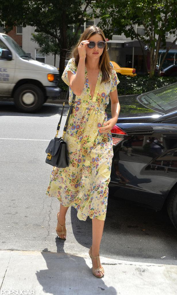 Miranda Kerr Keeps Cute Flynn Close and Showcases Two Sweet, Summery Looks