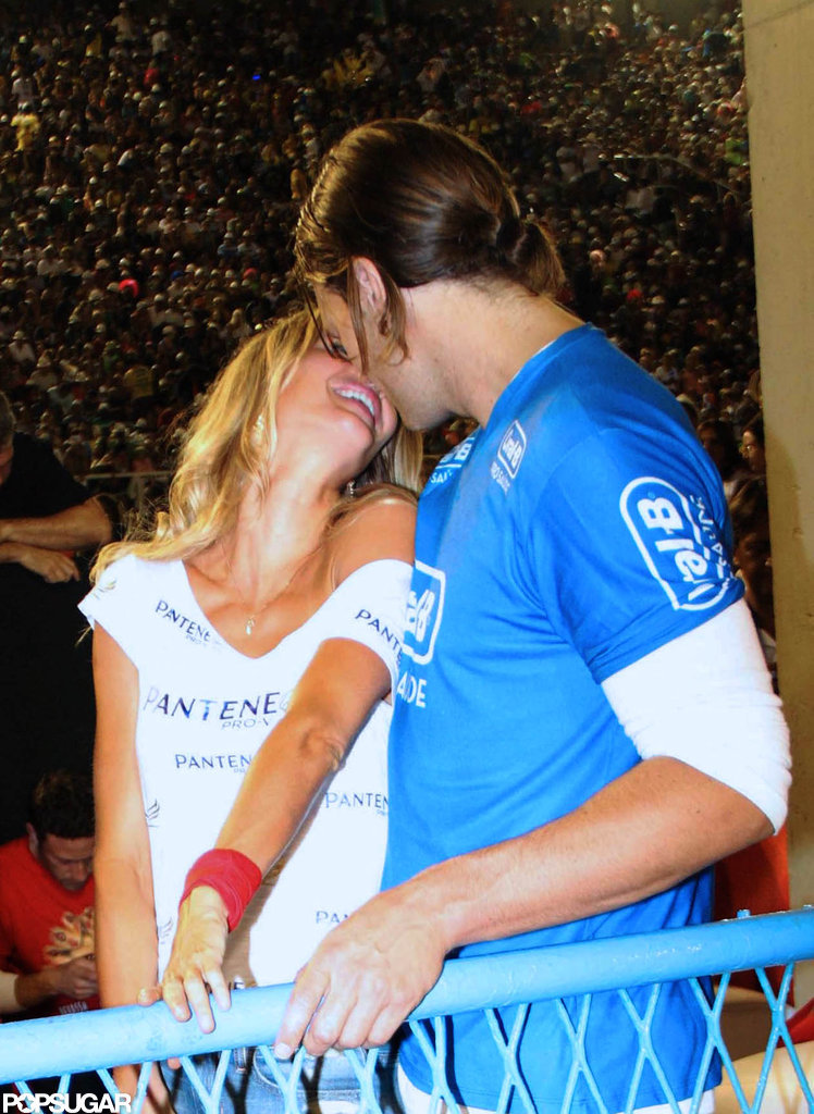 The couple got playful in Rio de Janeiro, Brazil, where they attended Carnival in March 2011.