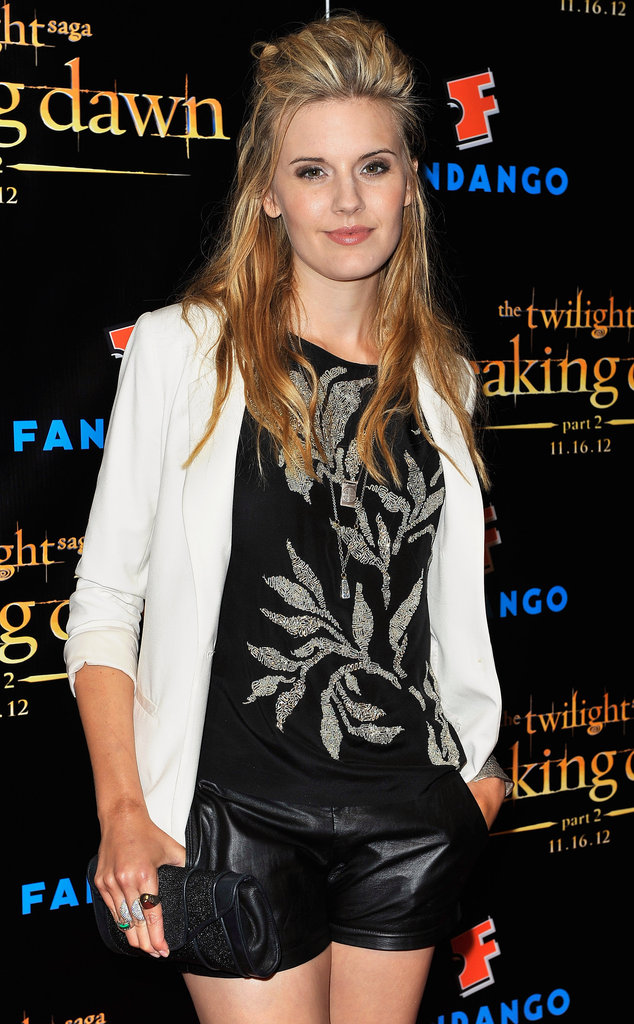 Maggie Grace sported a white blazer at the Breaking Dawn Part 2 party at Comic-Con.