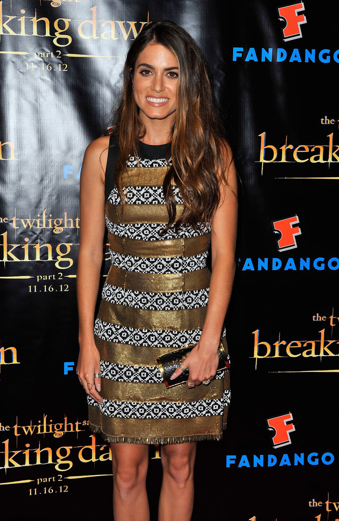 Nikki Reed gave a smile at the Breaking Dawn Part 2 party at Comic-Con.