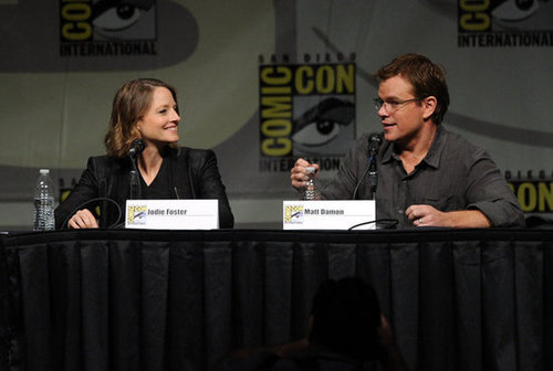 Matt Damon promoted Elysium with Jodie Foster.
