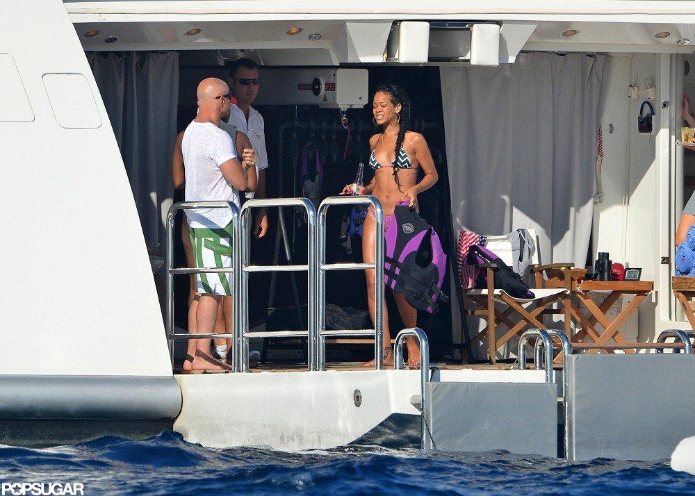 Bikini-Clad Rihanna Lets Loose on a Luxury Cruise