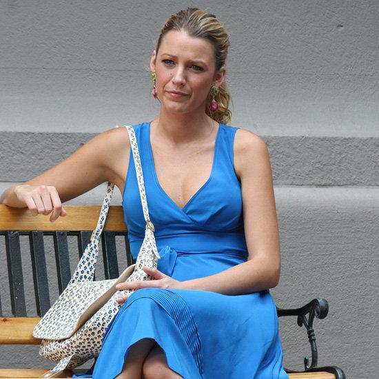 Blake Lively Wearing a Blue Dress on Gossip Girl