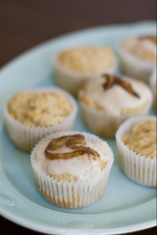 Goat Cheese, Fig, and Onion Cupcakes