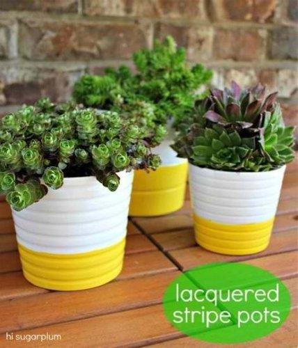 DIY stripes on Ikea vases