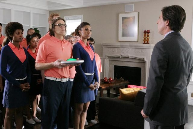 Toks Olagundoye, Simon Templeman, and Mitch Rouse on The Neighbors.