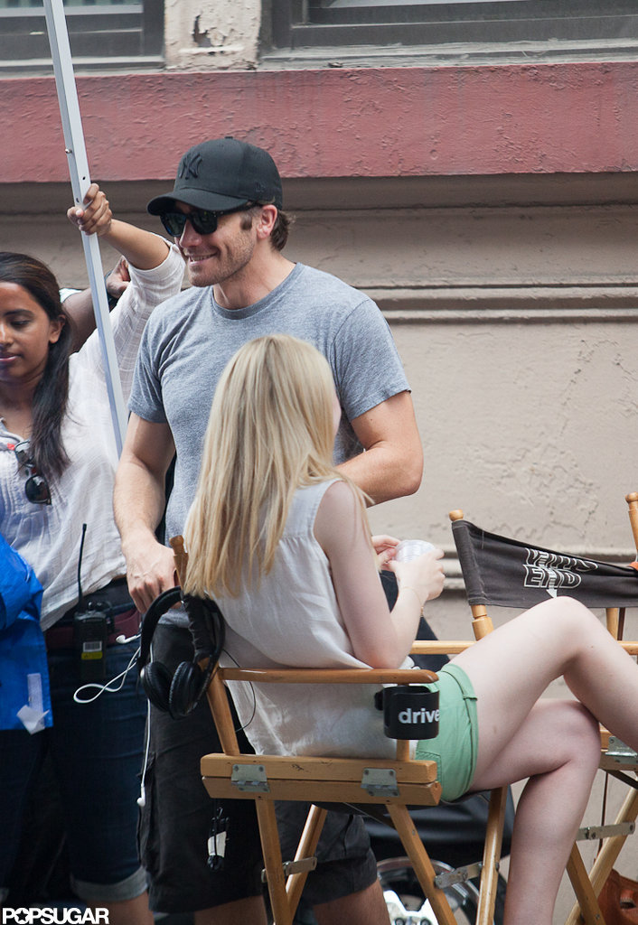 Jake Gyllenhaal was on set of the new film Very Good Girls in NYC.