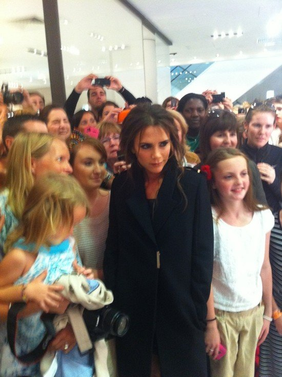 Victoria Beckham met with her fans. Source: Twitter user CKennedyPR