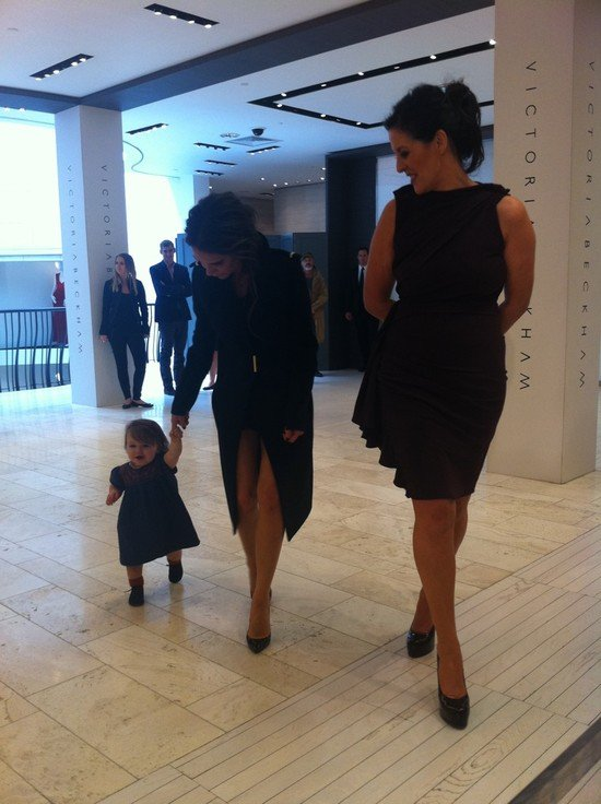 Victoria Beckham brought Harper Beckham to Dublin. 