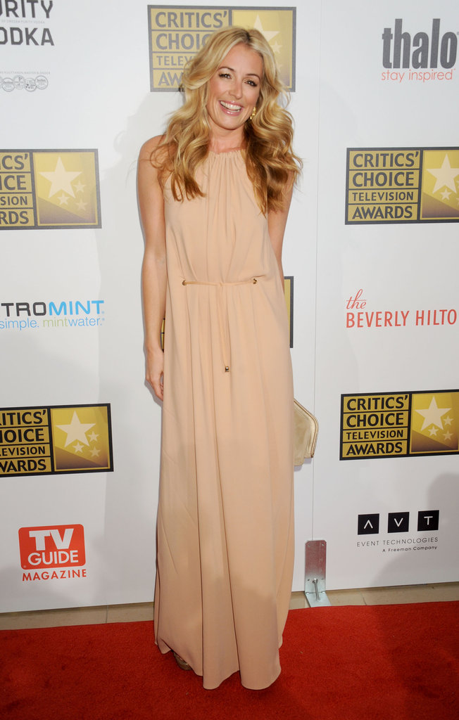 For a slick effortless nude gown ensemble, look no further than Cat Deeley's 2012 Critics' Choice Television Awards outfit.
