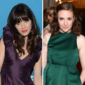 Zooey Deschanel's Red Carpet Nail Art
