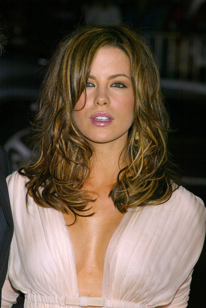 Kate Beckinsale gave a seductive look at the 2003 Underworld premiere in September.