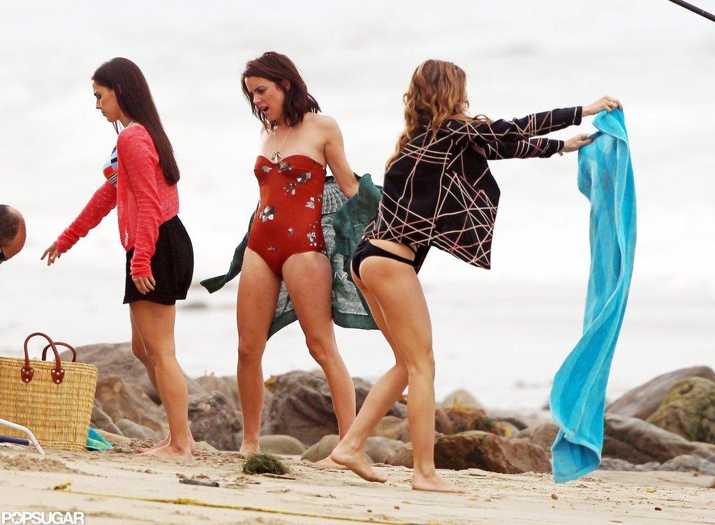 AnnaLynne McCord, Jessica Stroup, and Jessica Lowndes shot bikini scenes.