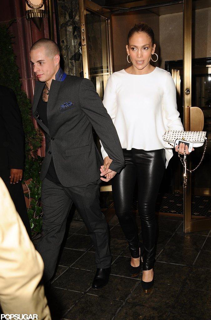 Casper Smart held onto Jennifer Lopez's hand in NYC.